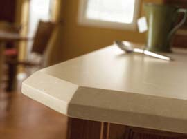 "Caramel Rhine Granite Countertop with ½"" Bevel Edge Profile"